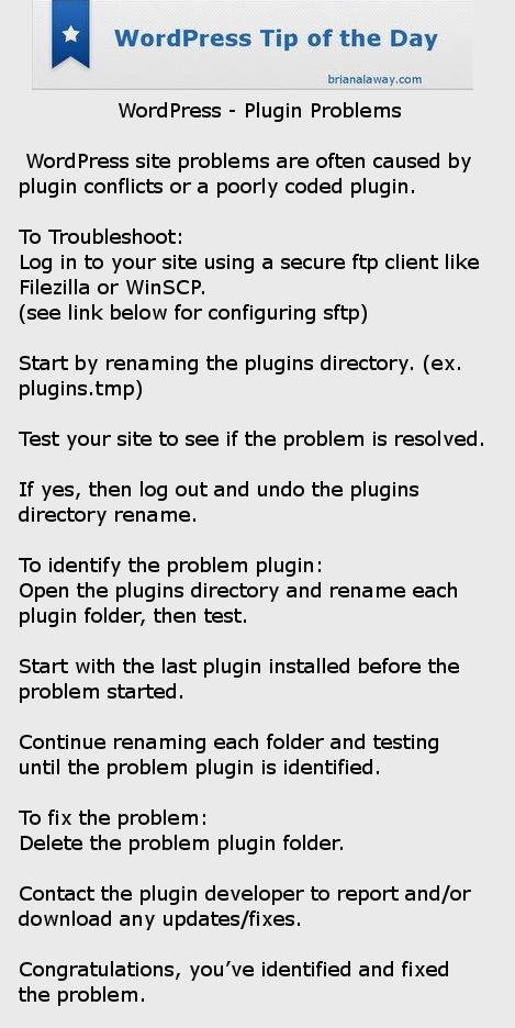 WPTOD-PluginProblems